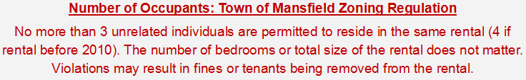 Town of Mansfield Zoning Regulation