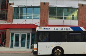WRTD bus in front of Nash-Zimmer Transportation Center
